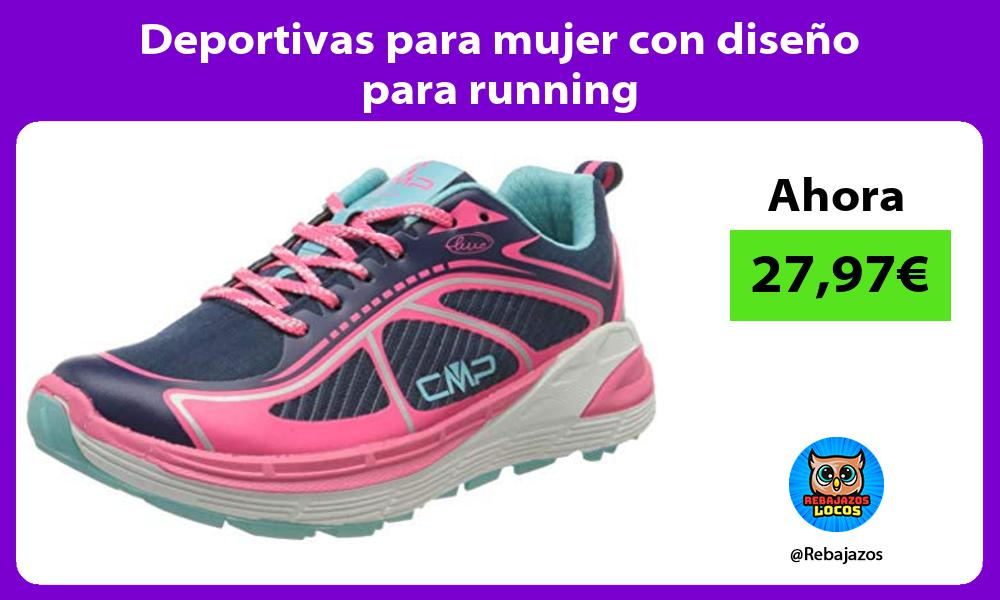 Deportivas para mujer con diseno para running