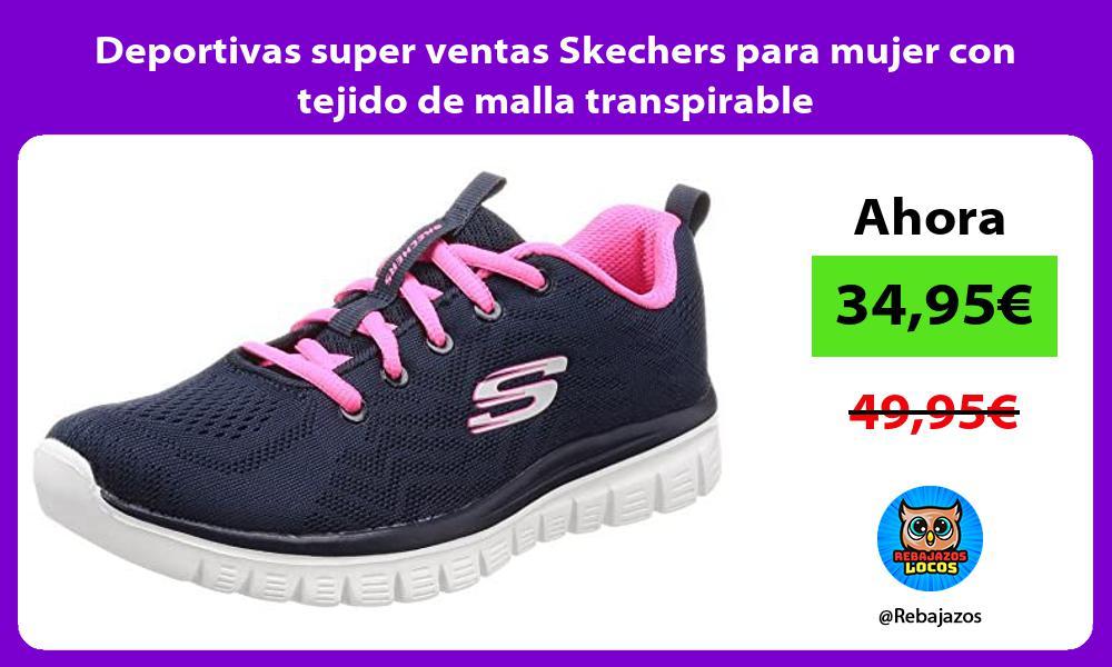 Deportivas super ventas Skechers para mujer con tejido de malla transpirable