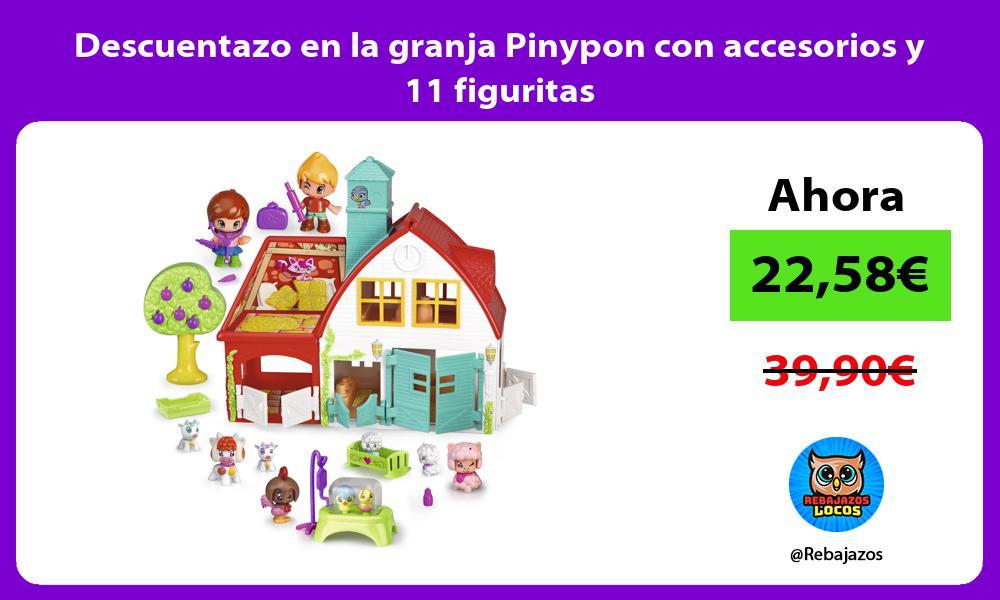 Descuentazo en la granja Pinypon con accesorios y 11 figuritas