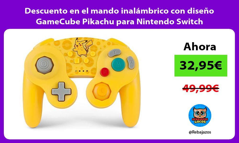 Descuento en el mando inalambrico con diseno GameCube Pikachu para Nintendo Switch