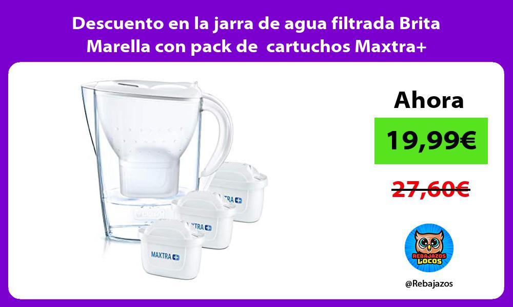 Descuento en la jarra de agua filtrada Brita Marella con pack de cartuchos Maxtra