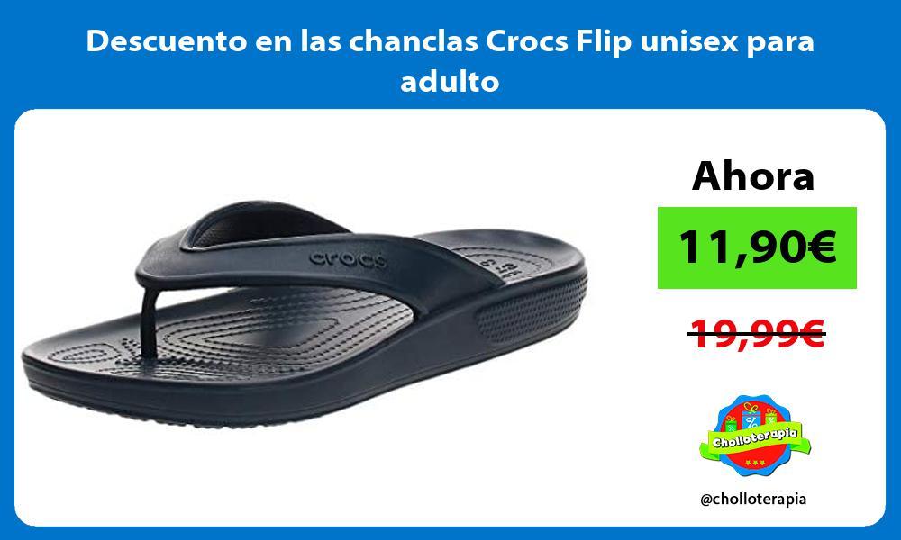 Descuento en las chanclas Crocs Flip unisex para adulto