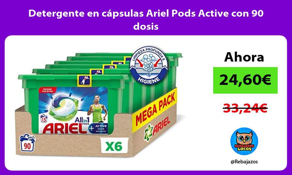Detergente en capsulas Ariel Pods Active con 90 dosis