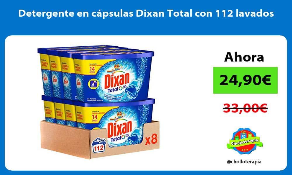 Detergente en capsulas Dixan Total con 112 lavados