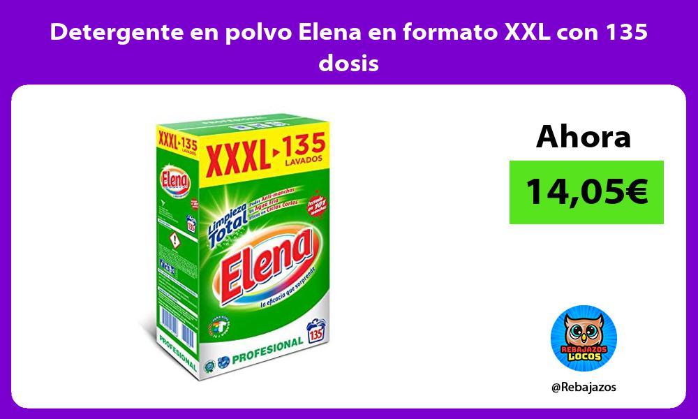 Detergente en polvo Elena en formato XXL con 135 dosis