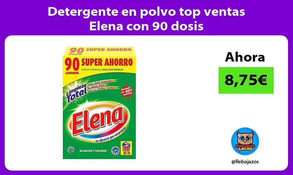 Detergente en polvo top ventas Elena con 90 dosis