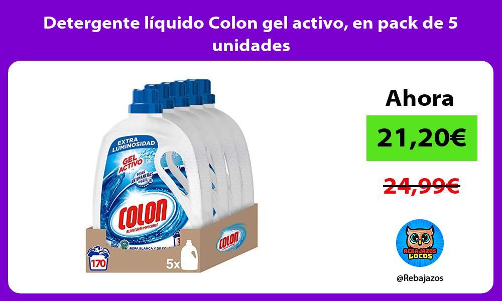 Detergente liquido Colon gel activo en pack de 5 unidades