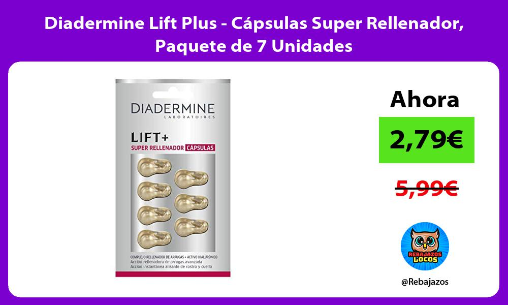 Diadermine Lift Plus Capsulas Super Rellenador Paquete de 7 Unidades