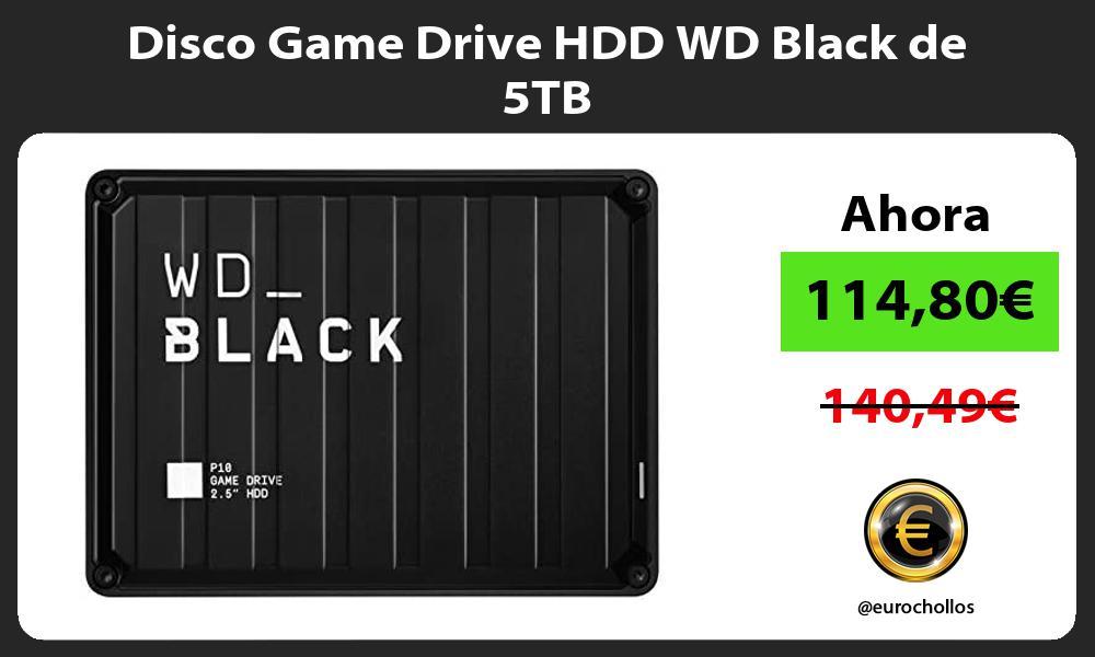 Disco Game Drive HDD WD Black de 5TB