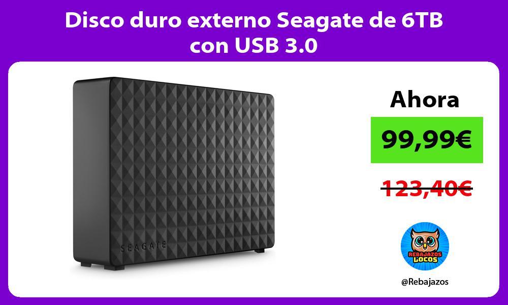 Disco duro externo Seagate de 6TB con USB 3 0