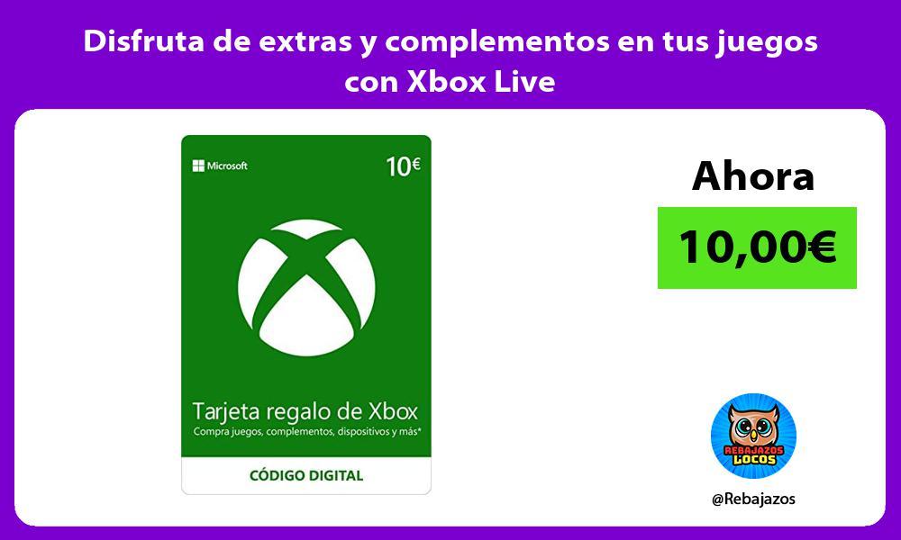 Disfruta de extras y complementos en tus juegos con Xbox Live