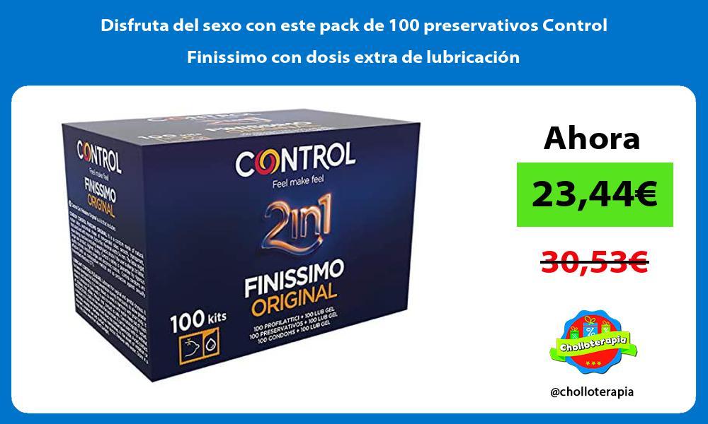 Disfruta del sexo con este pack de 100 preservativos Control Finissimo con dosis extra de lubricacion