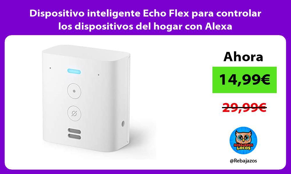 Dispositivo inteligente Echo Flex para controlar los dispositivos del hogar con Alexa