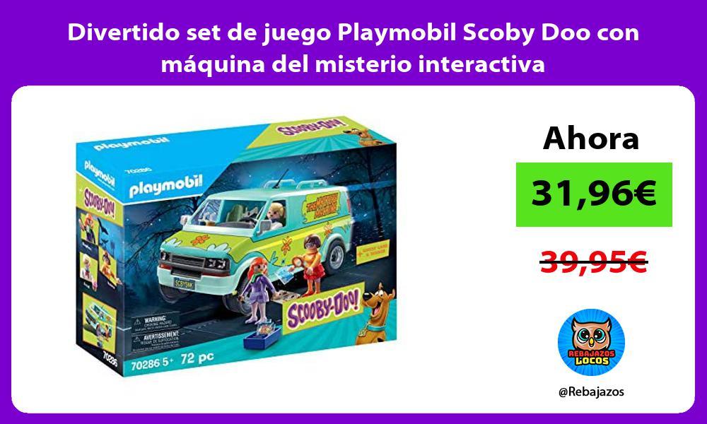 Divertido set de juego Playmobil Scoby Doo con maquina del misterio interactiva