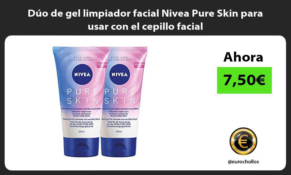 Duo de gel limpiador facial Nivea Pure Skin para usar con el cepillo facial