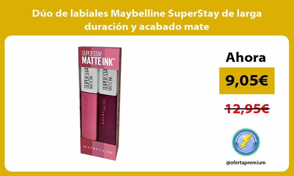 Duo de labiales Maybelline SuperStay de larga duracion y acabado mate