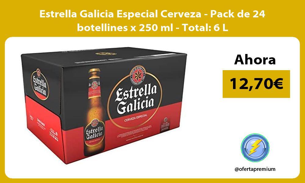 Estrella Galicia Especial Cerveza Pack de 24 botellines x 250 ml Total 6 L