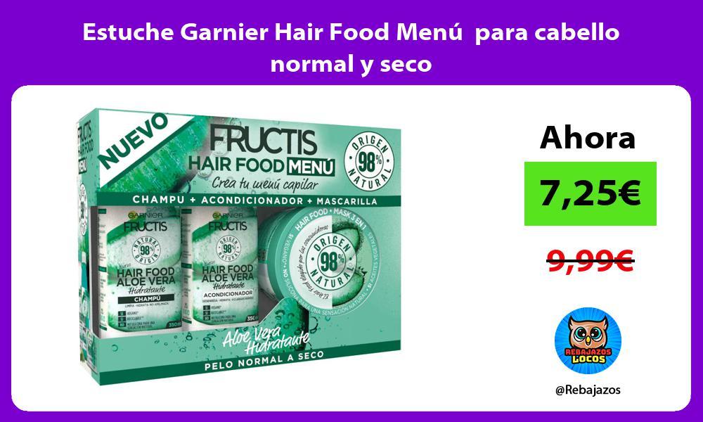 Estuche Garnier Hair Food Menu para cabello normal y seco