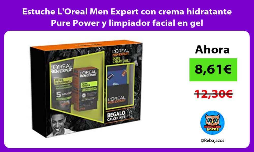 Estuche LOreal Men Expert con crema hidratante Pure Power y limpiador facial en gel