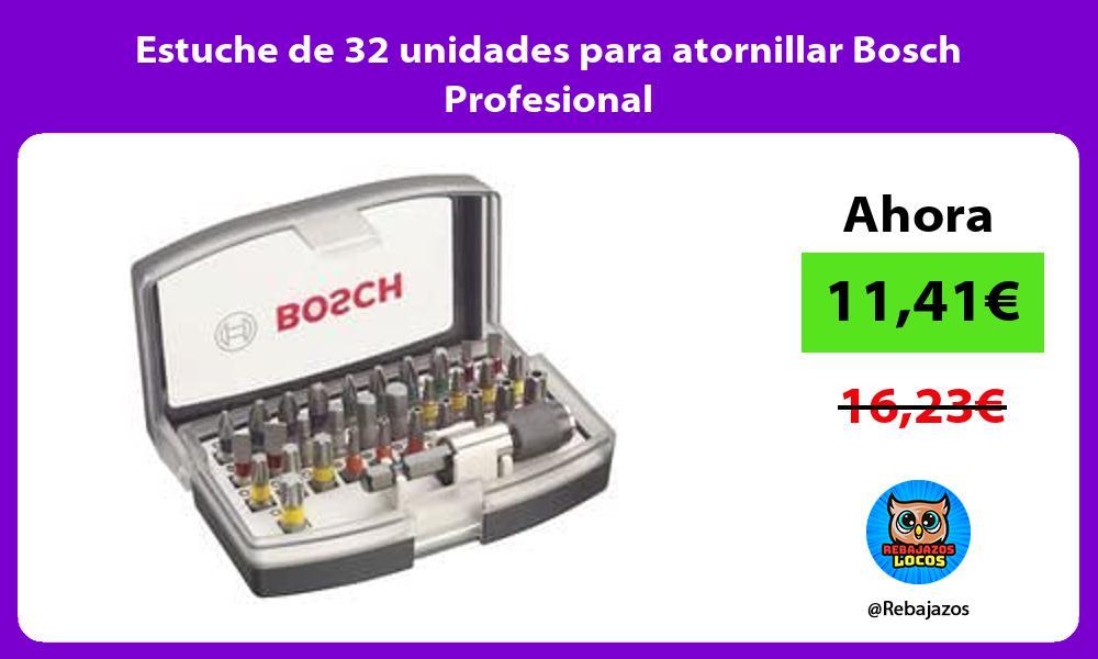 Estuche de 32 unidades para atornillar Bosch Profesional