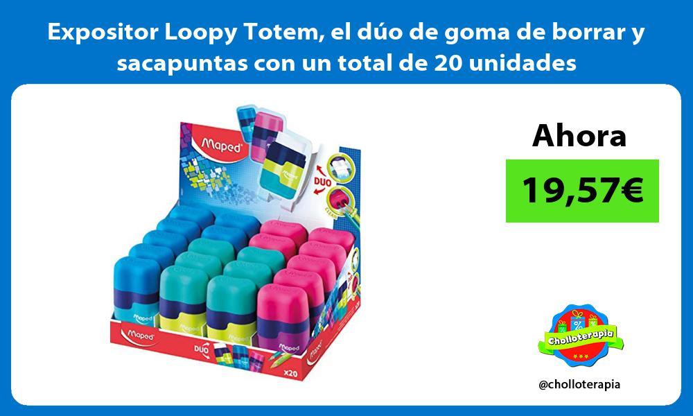 Expositor Loopy Totem el duo de goma de borrar y sacapuntas con un total de 20 unidades