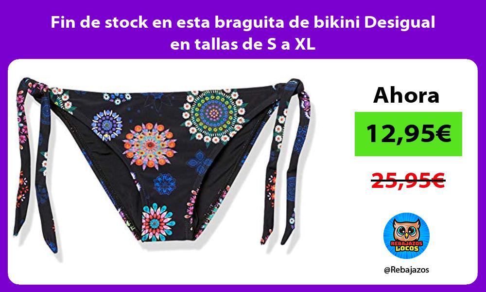 Fin de stock en esta braguita de bikini Desigual en tallas de S a XL