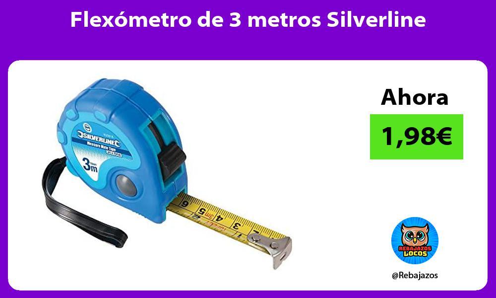 Flexometro de 3 metros Silverline