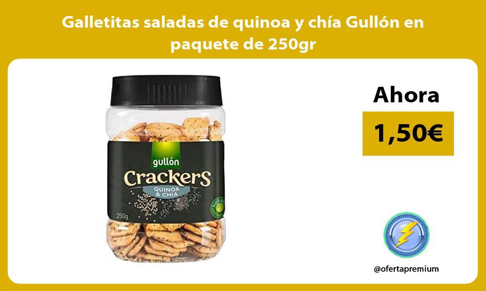 Galletitas saladas de quinoa y chia Gullon en paquete de 250gr