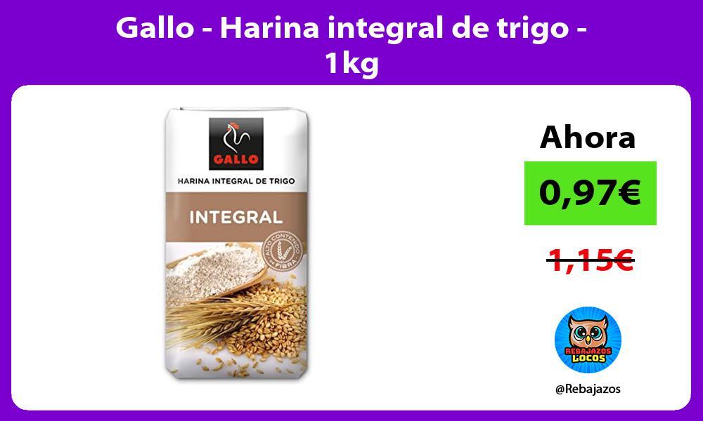 Gallo Harina integral de trigo 1kg