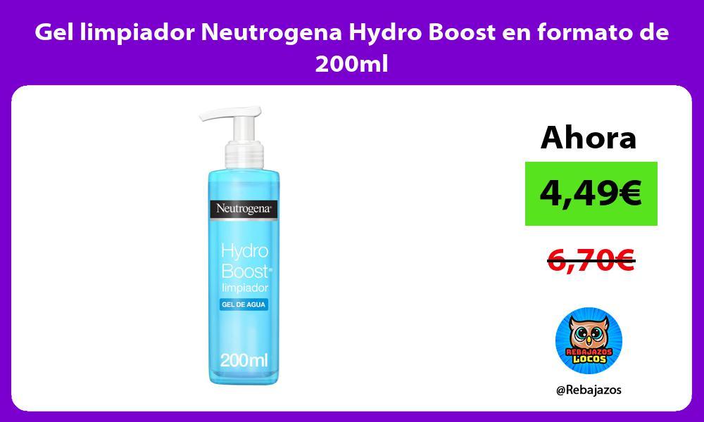 Gel limpiador Neutrogena Hydro Boost en formato de 200ml