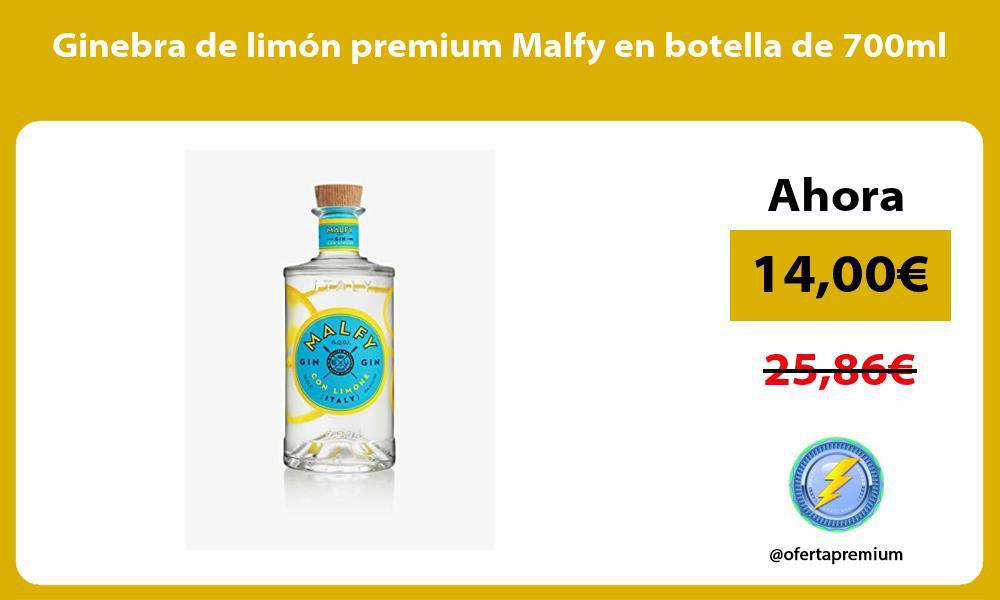 Ginebra de limon premium Malfy en botella de 700ml