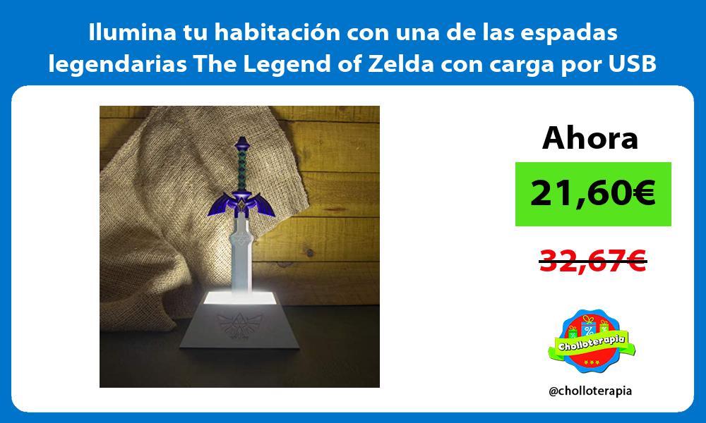 Ilumina tu habitacion con una de las espadas legendarias The Legend of Zelda con carga por USB