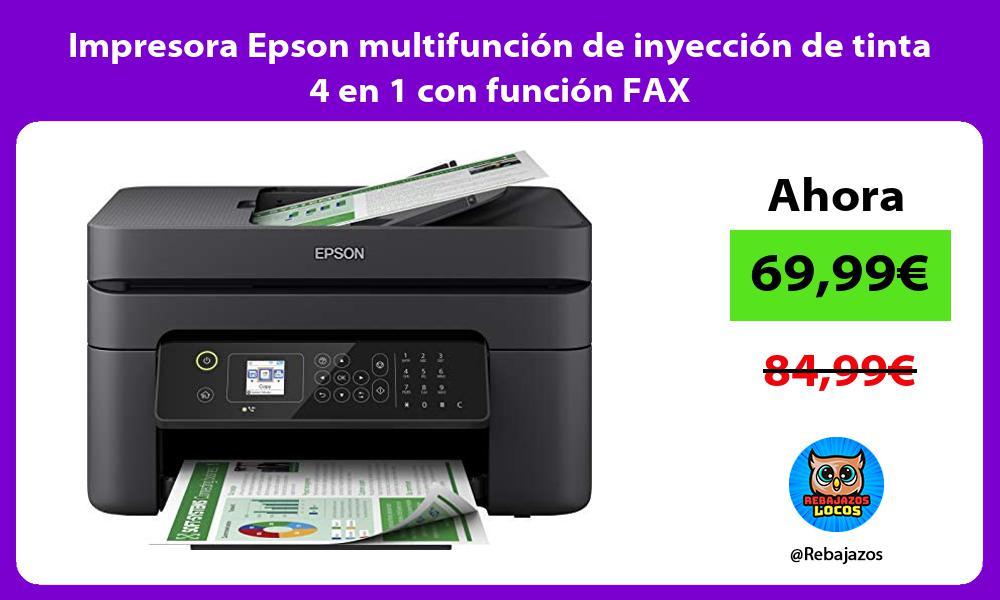 Impresora Epson multifuncion de inyeccion de tinta 4 en 1 con funcion FAX