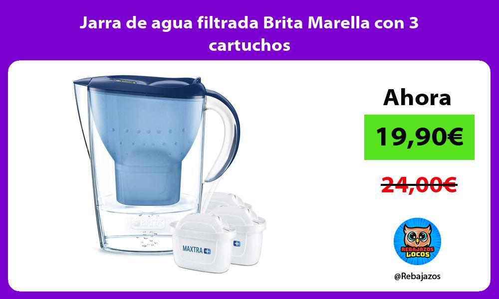Jarra de agua filtrada Brita Marella con 3 cartuchos