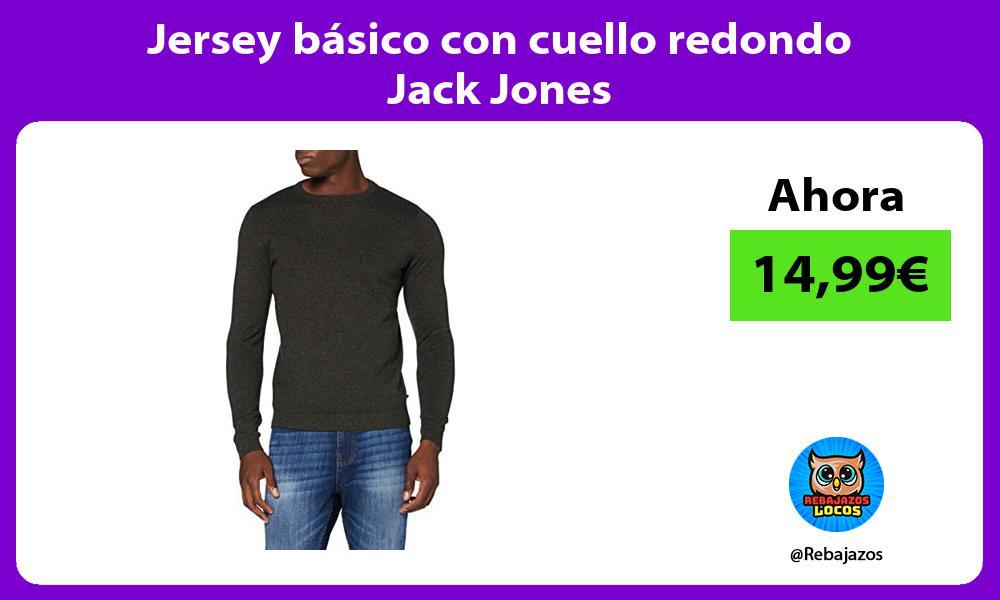 Jersey basico con cuello redondo Jack Jones