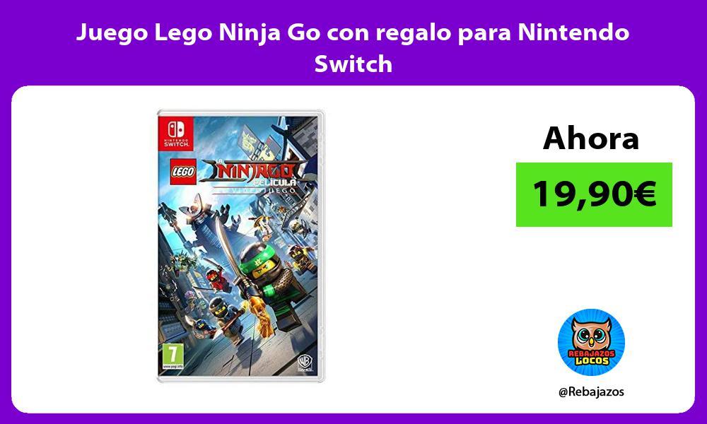 Juego Lego Ninja Go con regalo para Nintendo Switch