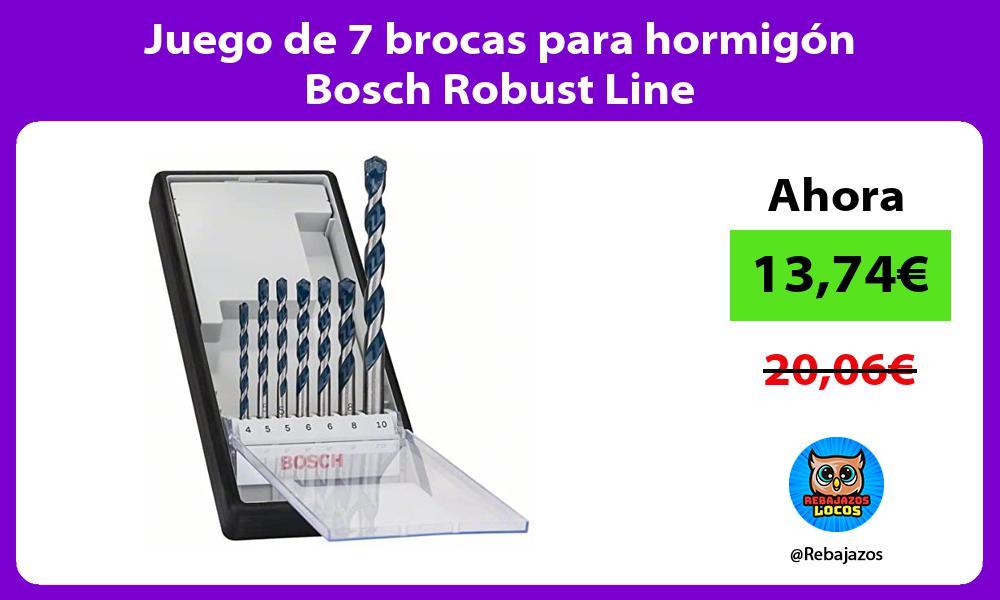 Juego de 7 brocas para hormigon Bosch Robust Line