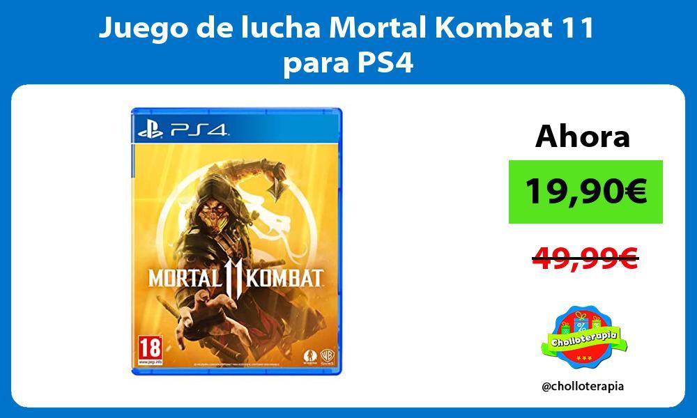 Juego de lucha Mortal Kombat 11 para PS4