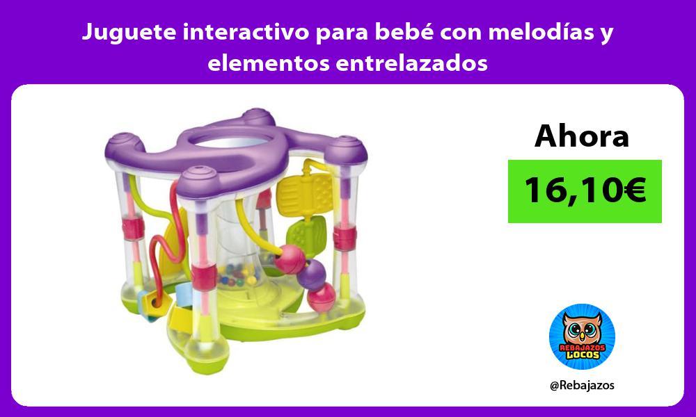 Juguete interactivo para bebe con melodias y elementos entrelazados