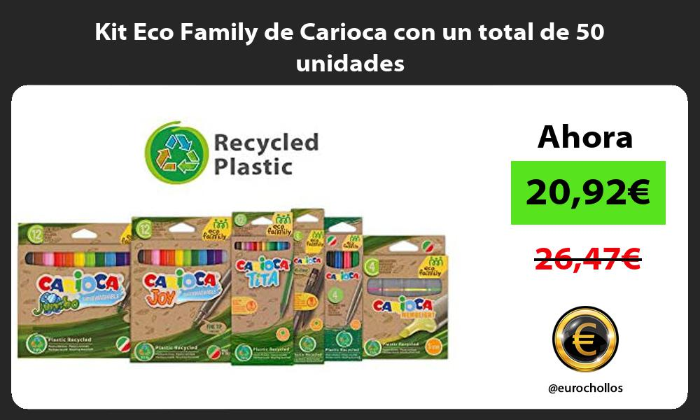 Kit Eco Family de Carioca con un total de 50 unidades