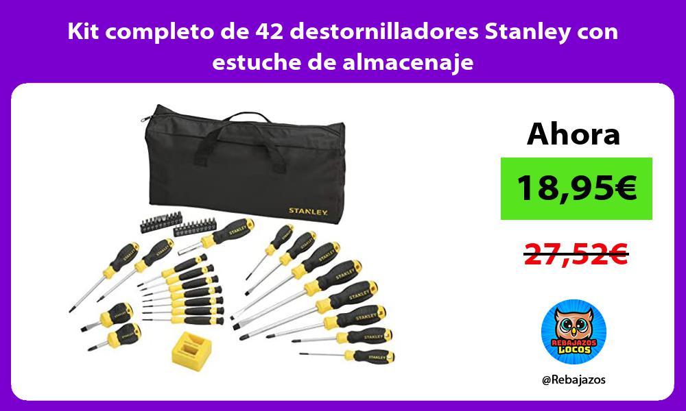 Kit completo de 42 destornilladores Stanley con estuche de almacenaje