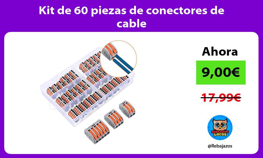 Kit de 60 piezas de conectores de cable