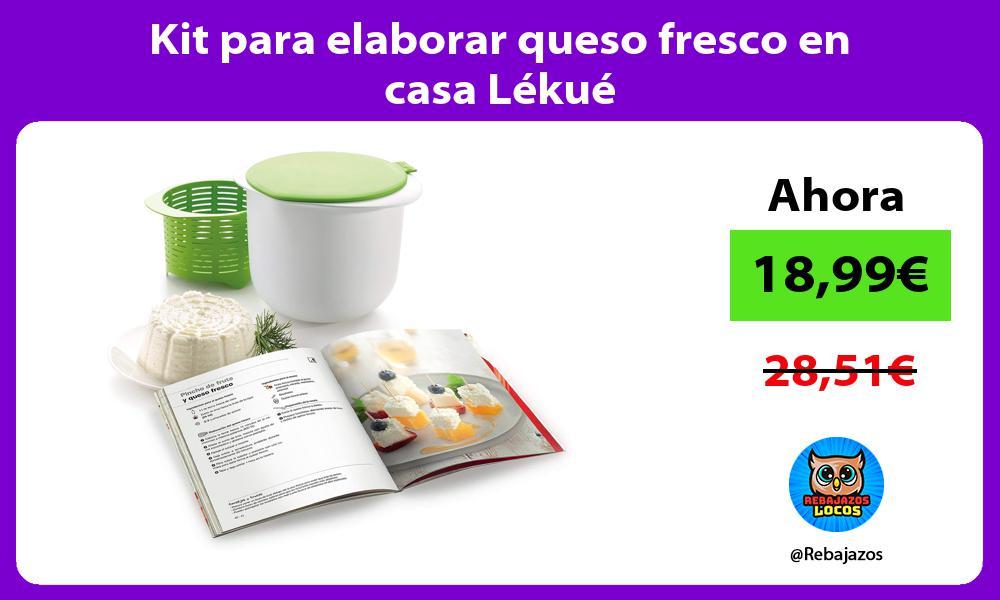 Kit para elaborar queso fresco en casa Lekue