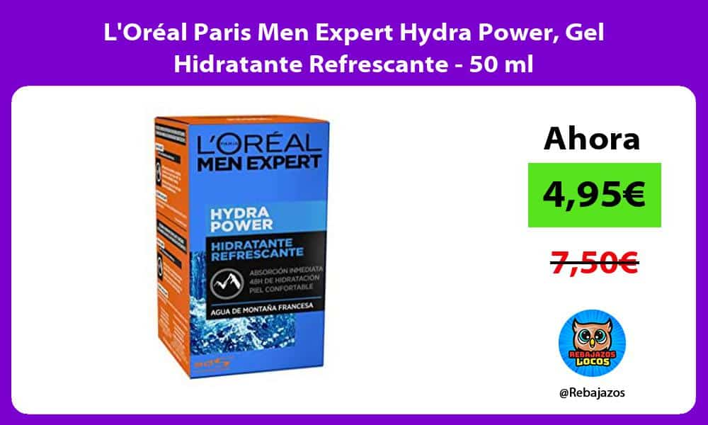 LOreal Paris Men Expert Hydra Power Gel Hidratante Refrescante 50 ml