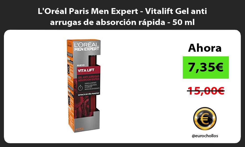 LOreal Paris Men Expert Vitalift Gel anti arrugas de absorcion rapida 50 ml