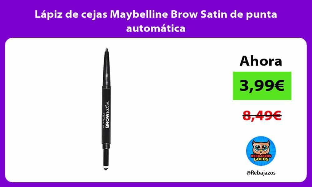 Lapiz de cejas Maybelline Brow Satin de punta automatica