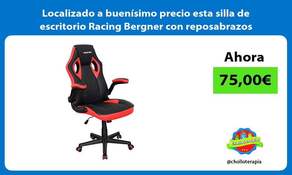 Localizado a buenisimo precio esta silla de escritorio Racing Bergner con reposabrazos abatibles