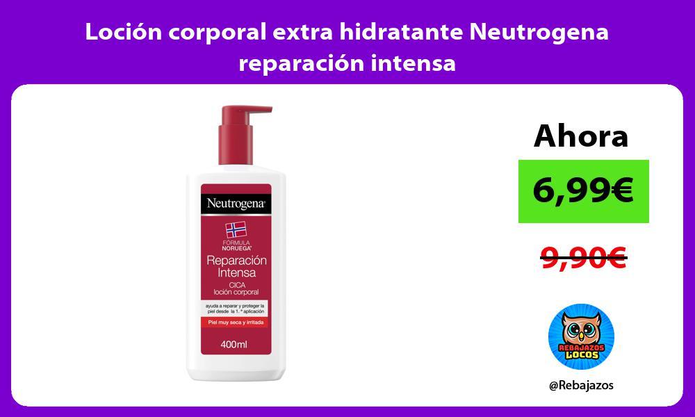 Locion corporal extra hidratante Neutrogena reparacion intensa
