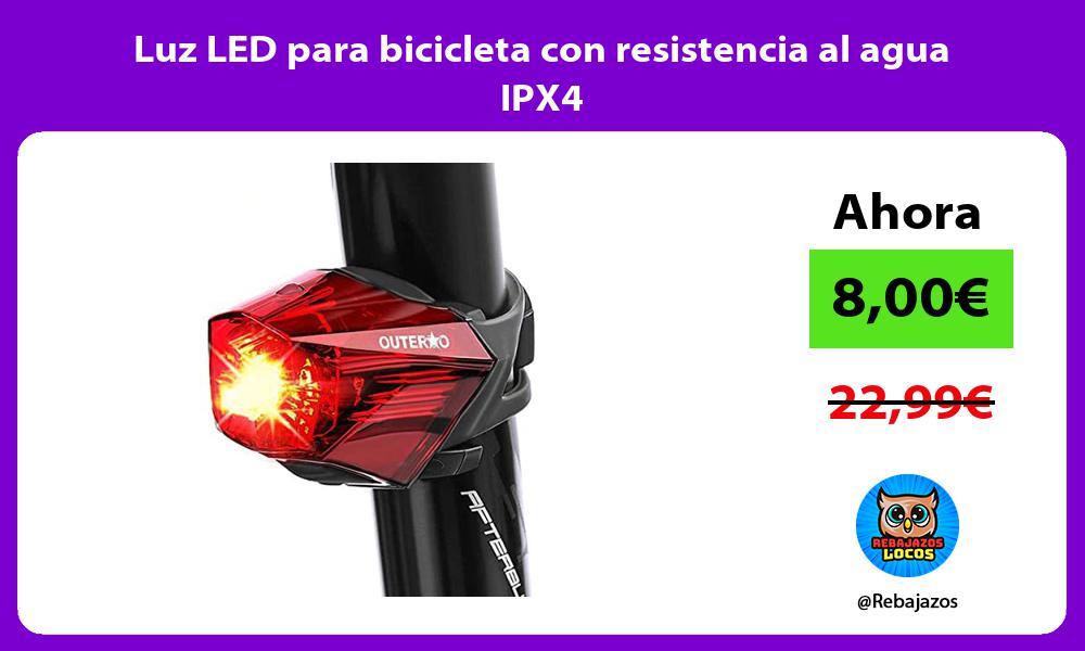 Luz LED para bicicleta con resistencia al agua IPX4