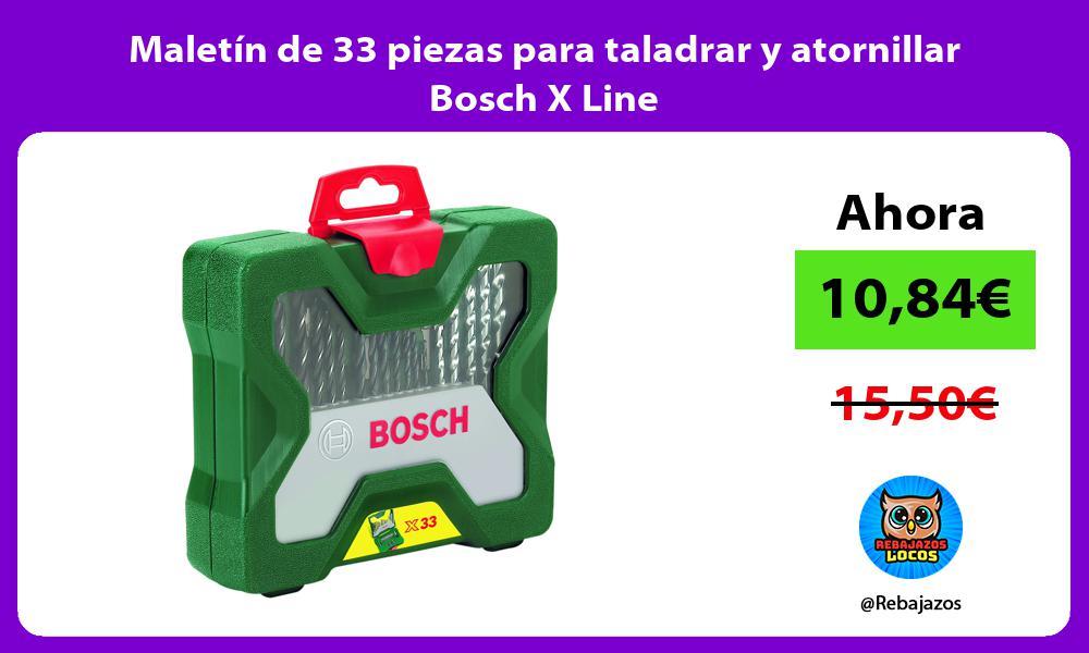 Maletin de 33 piezas para taladrar y atornillar Bosch X Line
